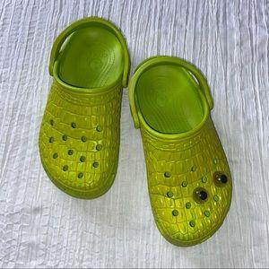 Rare Crocs Crocskin Classic Green Limited Edition